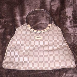 Handbags - Brown tan top handle square summer bag clutch